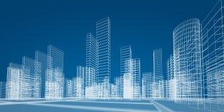 Принципиальная схема города Стоковые Изображения