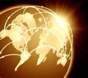 Принципиальная схема глобального бизнеса Стоковые Фотографии RF
