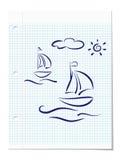 Принципиальная схема летнего отпуска Стоковая Фотография