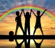 принципиальная схема детства счастливая Стоковая Фотография RF