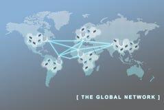 Принципиальная схема дела глобальной вычислительной сети Стоковое Фото