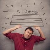 Концепция дела: стресс Стоковые Изображения RF