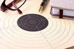 Принципиальная схема дела, цель - запланирование цели и достижение Стоковая Фотография RF