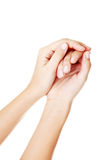 Принципиальная схема заботы рук. Стоковые Фотографии RF