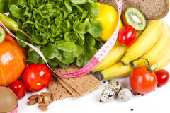 Принципиальная схема завтрака потери веса диетпитания Стоковые Фотографии RF