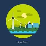Принципиальная схема зеленой энергии Стоковые Изображения RF