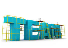 Принципиальная схема здания команды Стоковое Изображение RF