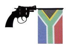 Принципиальная схема злодеяния оружия пистолета руки стоковое фото