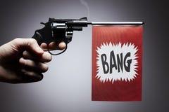 Принципиальная схема злодеяния оружия пистолета руки Стоковые Фотографии RF