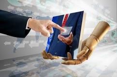 Принципиальная схема изображения бизнесмена отборная цифровая Стоковые Изображения
