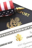 Принципиальная схема иммиграции стоковое фото