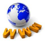 Принципиальная схема интернета иллюстрации мира 3d Www Стоковое фото RF