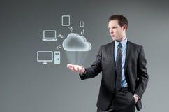 Принципиальная схема облака вычисляя. стоковые фотографии rf