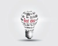 Принципиальная схема идеи электрической лампочки иллюстрация штока
