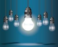 Принципиальная схема идеи электрической лампочки бесплатная иллюстрация