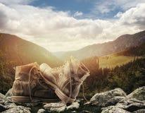 Hiking принципиальная схема Стоковое Изображение