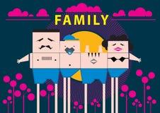 Принципиальная схема каникулы семьи Стоковое фото RF