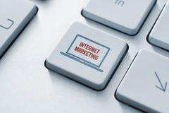 Принципиальная схема кнопки маркетинга интернета Стоковая Фотография RF