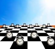 Принципиальная схема контроля времени Стоковые Фотографии RF