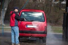 принципиальная схема конца чистоты автомобиля вверх моя Стоковая Фотография RF