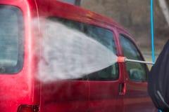принципиальная схема конца чистоты автомобиля вверх моя Стоковая Фотография