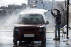 принципиальная схема конца чистоты автомобиля вверх моя Стоковые Изображения