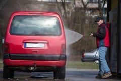 принципиальная схема конца чистоты автомобиля вверх моя Стоковое Изображение