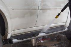 принципиальная схема конца чистоты автомобиля вверх моя Стоковые Фото