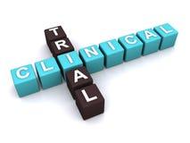 Принципиальная схема клинического испытания Стоковое Изображение