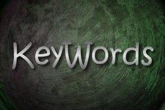 Принципиальная схема ключевых слов стоковое изображение