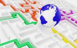 Принципиальная схема международного сотрудничества. Стоковое фото RF