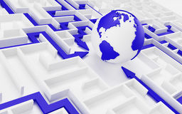 Принципиальная схема международного сотрудничества. Стоковые Изображения RF
