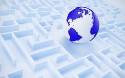 Принципиальная схема международного сотрудничества. Стоковое Изображение