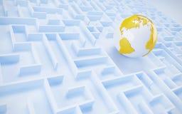 Принципиальная схема международного сотрудничества. Стоковые Фото