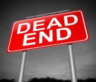 Принципиальная схема мертвого конца. Стоковое фото RF