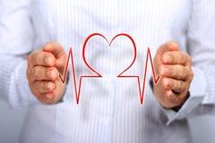 Принципиальная схема медицинской страховки. Стоковые Фото