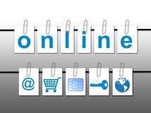 Принципиальная схема мира онлайн Стоковое фото RF