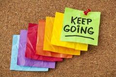 Принципиальная схема мотивировки Keep идя стоковая фотография rf