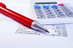 Принципиальная схема неоплаченного счета Стоковые Изображения