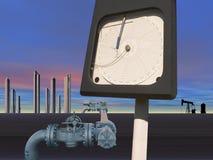 Принципиальная схема нефтедобывающей промышленности Стоковая Фотография