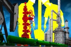 Принципиальная схема нефтедобывающей промышленности Стоковое Изображение