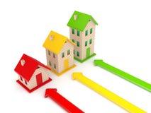 Принципиальная схема недвижимости. Стоковое Фото