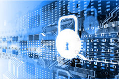 Принципиальная схема обеспеченностью Cyber Стоковые Изображения