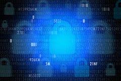 Принципиальная схема обеспеченностью Cyber Стоковая Фотография RF
