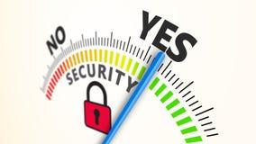 Принципиальная схема обеспеченностью Cyber Стоковое Изображение