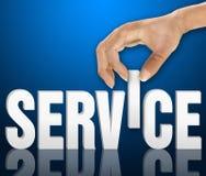 Принципиальная схема обслуживания клиента стоковое фото rf