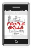Принципиальная схема облака слова искусств людей на телефоне сенсорного экрана иллюстрация вектора