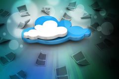 Принципиальная схема облака Стоковая Фотография RF