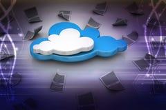Принципиальная схема облака Стоковые Изображения