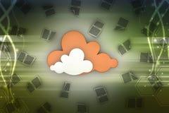Принципиальная схема облака Стоковые Изображения RF